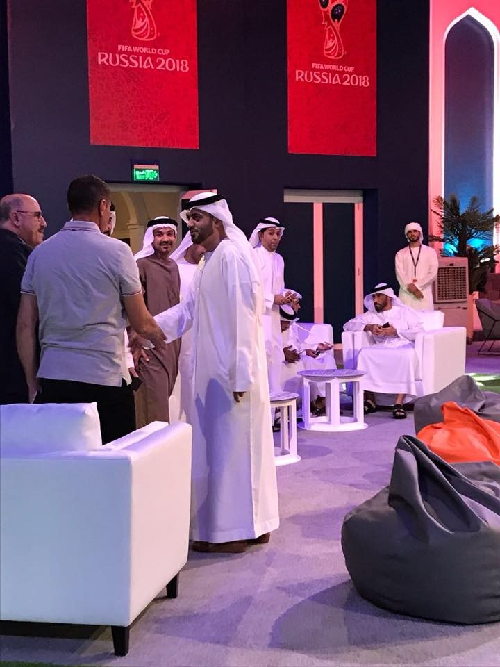 Shams as a partner at the Al Majaz FIFA World Cup Screening