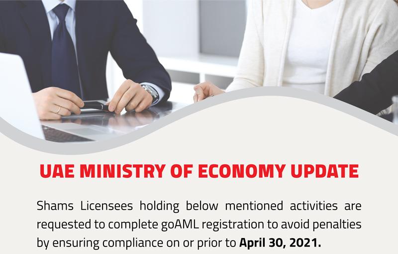 goAML registration deadline - 31st March 2021